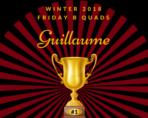 Winter 2018 Friday B Quads Winners